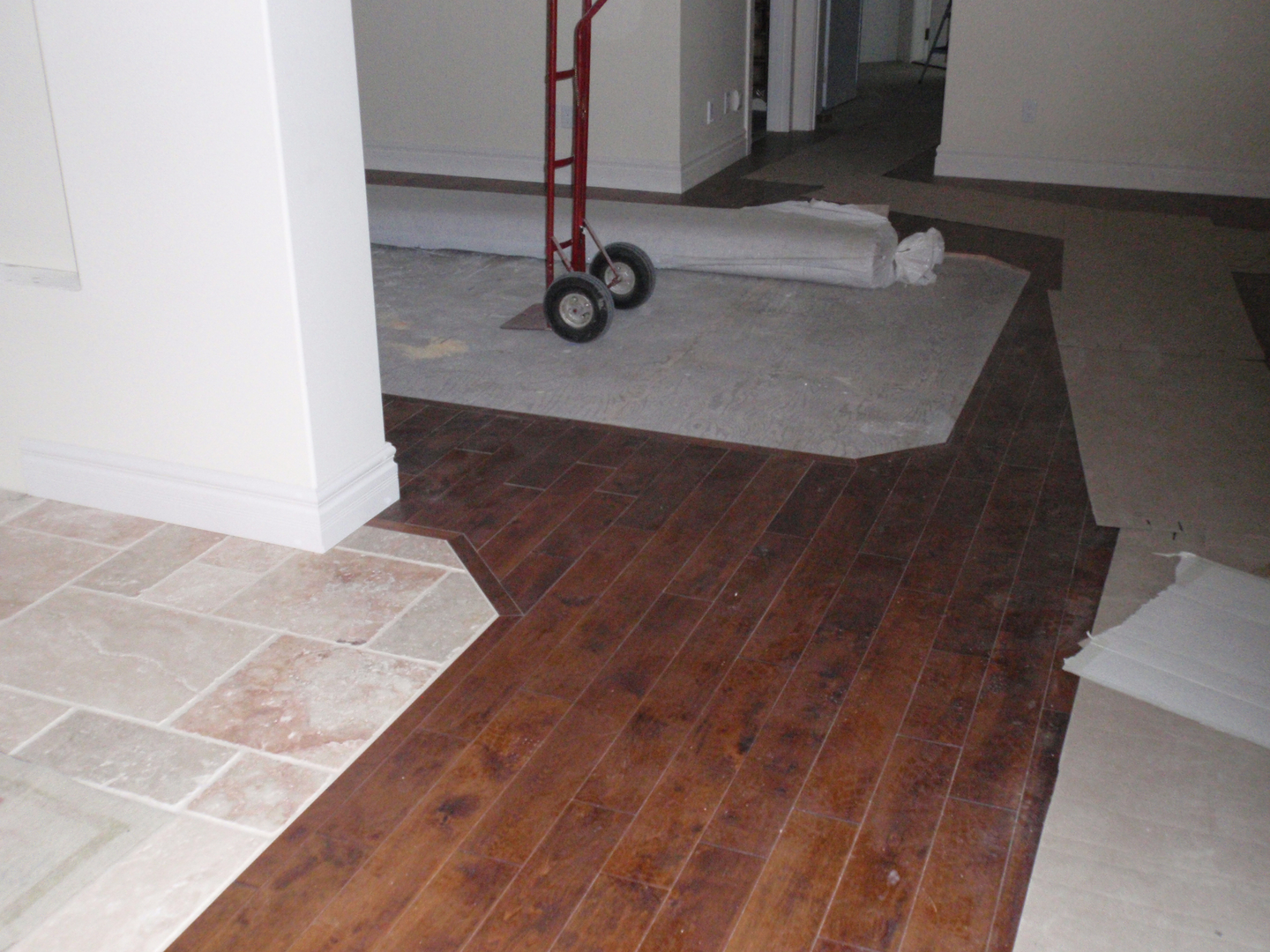 Wood floor installation hardwood flooring installation border work with carpet tile inset after wood install baanklon Choice Image