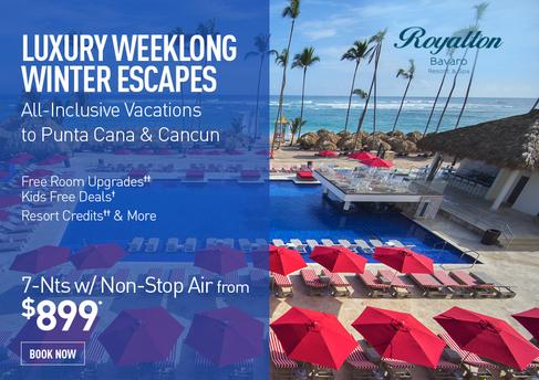 Punta Cana All All Inclusive Promo Deal: 7 nights with flights from $899.00 per person. Kids Stay Free Deals