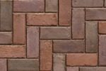 Unilock Concrete Town Hall Permeable Paver in Three Color Blend