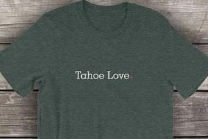 unisex cotton t-shirt - tahoe love