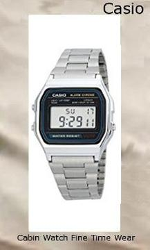 Casio Men's A158WA-1DF Stainless Steel Digital Watch,casio oceanus