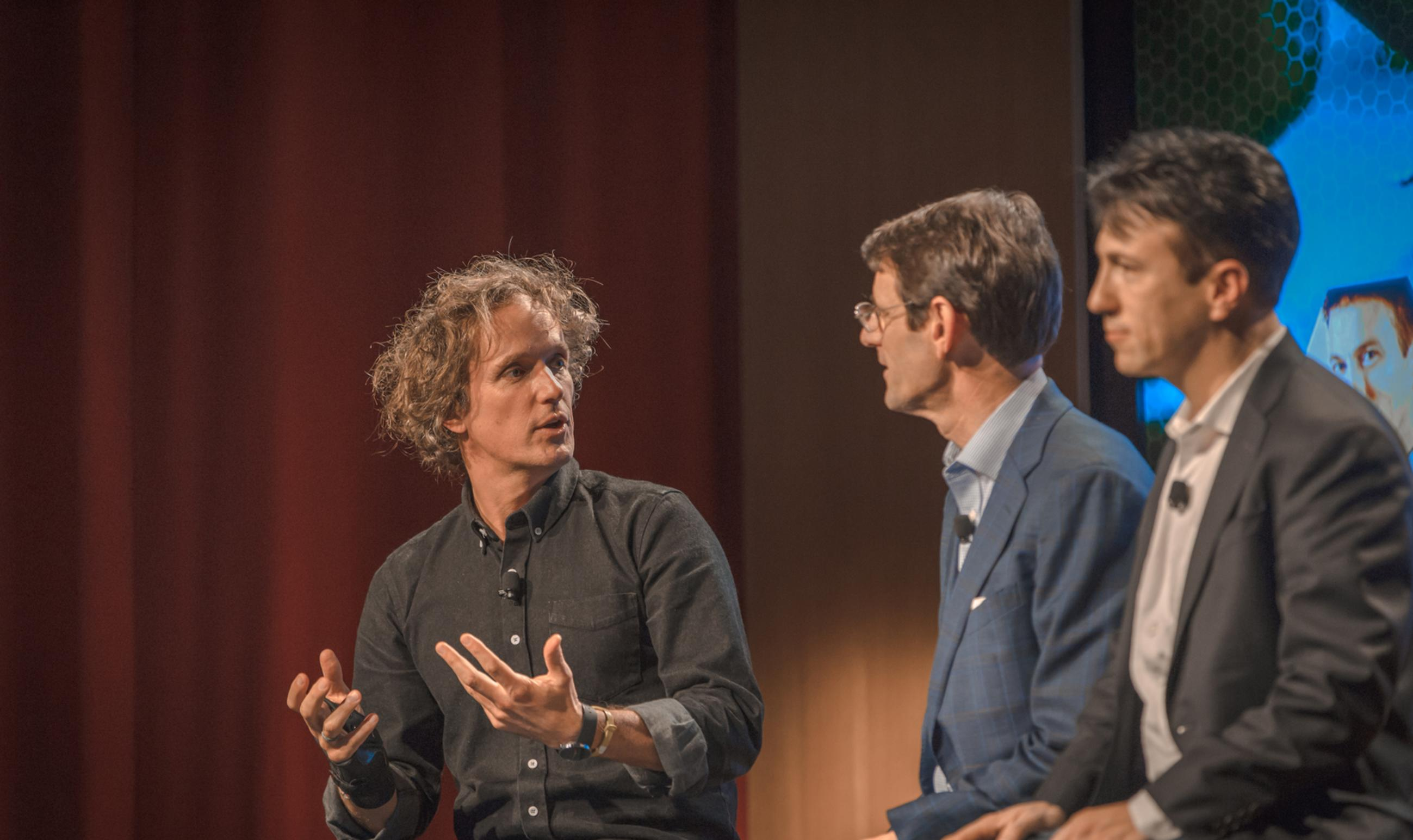 Yves Behar seating talking in event