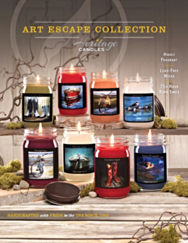 Heritage Candles Art Escape Candles Fundraiser Brochure