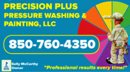 precision plus pressure washing & painting logo