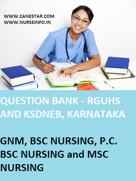 question bank, nursing and gnm - rguhs, ksndeb, inc