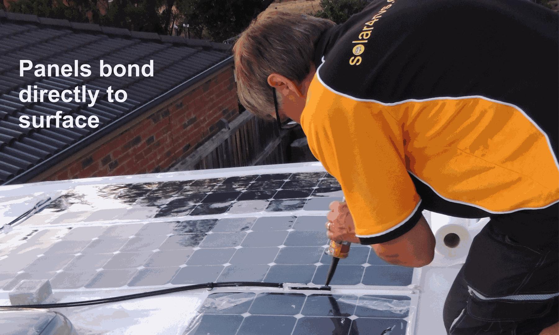 installing caravan solar panels