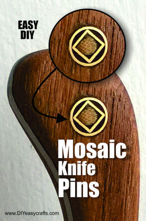 How to easily make Mosaic knife pins. FREE step by step instructions. www.DIYeasycrafts.com