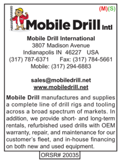 Drilling Supplies, Mobile Drill