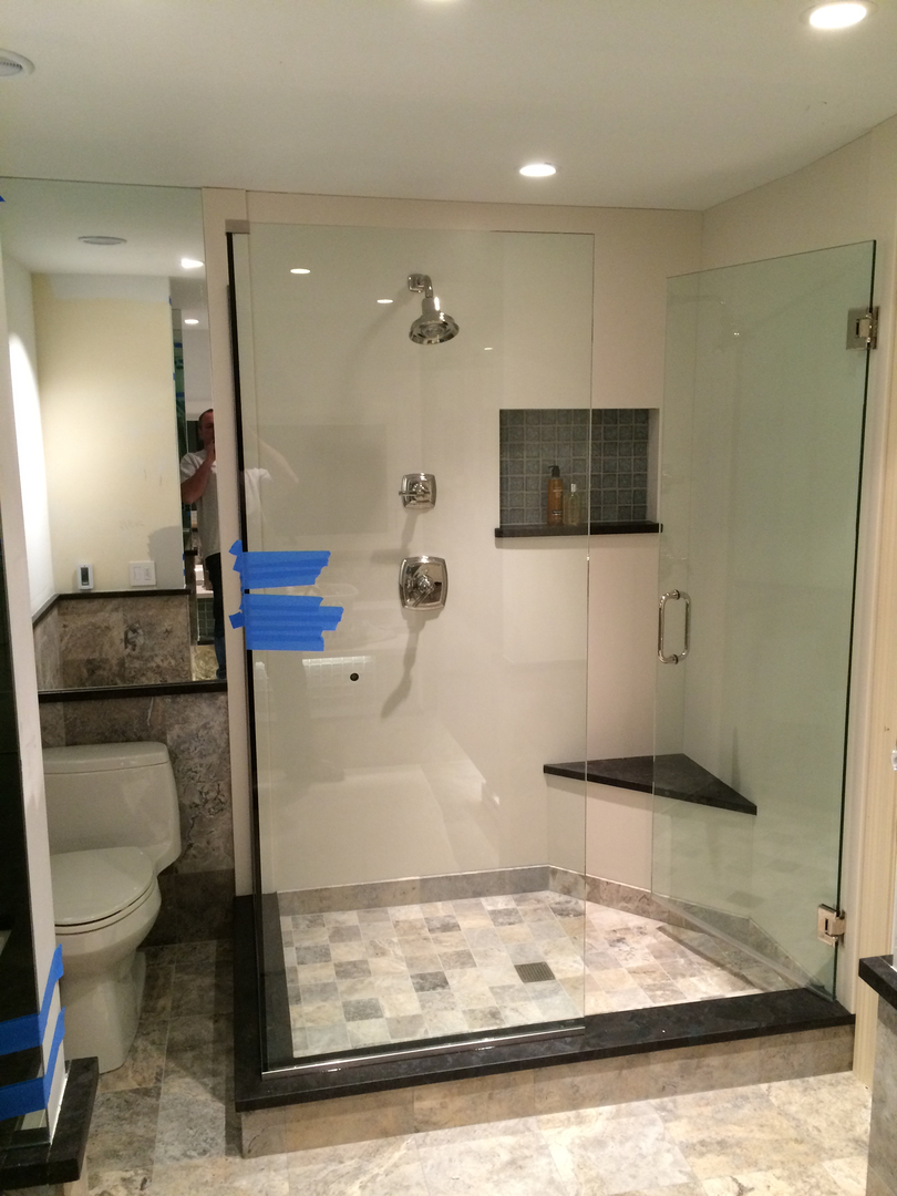 bathroom remodeled in lincolnshire