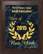 Notary Public NY State Online Licencing Class Adult Education Award Winner 2015
