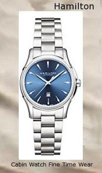 Product Specifications Watch Information Brand, Seller, or Collection Name Hamilton Model number H32315141 Part Number H32315141 Item Shape Round Dial window material type Scratch Resistant Sapphire Display Type analog-display Clasp Deployment Clasp Case material Stainless Steel Case diameter 34 millimeters Case Thickness 10 Band Material Stainless steel Band length Women's long Band width 16 millimeters Dial color Blue Bezel material Fixed Calendar Date Movement Automatic Water resistant depth 50 Meters,hamilton watch