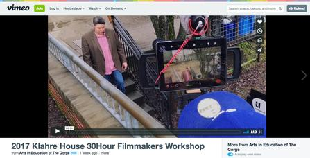 2017 Klahre House 30 Hour Filmmakers Workshop