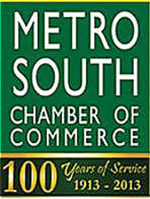 Metro South Chamber of Commerce logo.