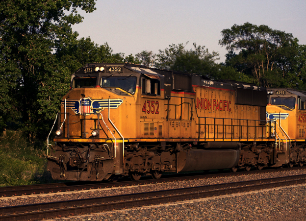 UP SD70M No. 4352 at Fairbury, Nebraska in July 2014.
