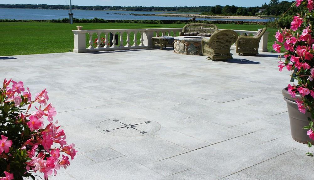 Gray Granite Steps, Treads, Pavers, Mailbox Lamp Post, Slabs Ma
