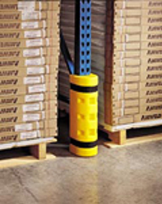 Rack Sentry protects your rack uprights from collision damage from forklifts.