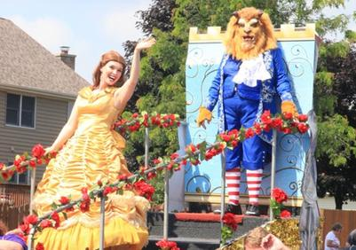 Beauty and The Beast win Mayorship of the Carol Stream, IL parade