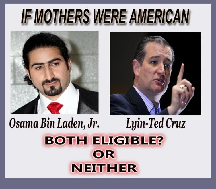 Neither man is eligible to the office of President. They both were born under identical circumstances. So why does anyone think Ted Cruz is eligible to the office of President?