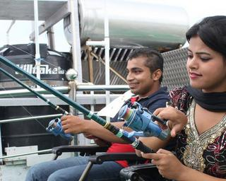 Angling On AC Houseboat in Sundarbans
