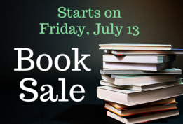 Book sale starts on Friday, July 13