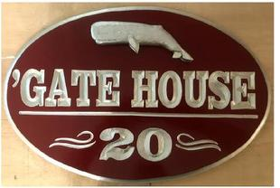 Oval Carved sign for a customer in Cape Cod, MA