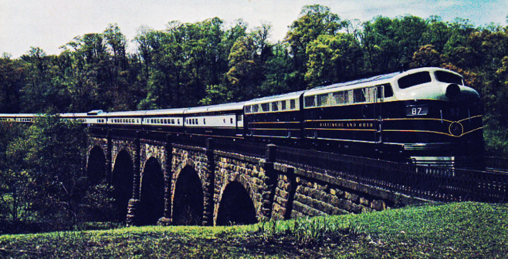 The Columbian at Thomas Viaduct, Relay, Maryland.