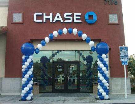 Chase Bank Balloon Columns