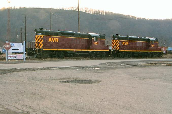 Allegheny Valley Diesels at Glenwood.
