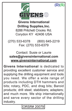 Drilling Supplies, Givens International
