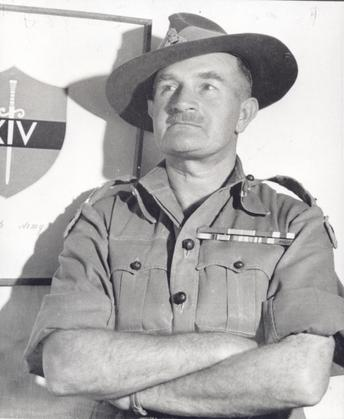 General Bill Slim commander of 14th Army - the 'Forgotten Army' - in Burma during WW2