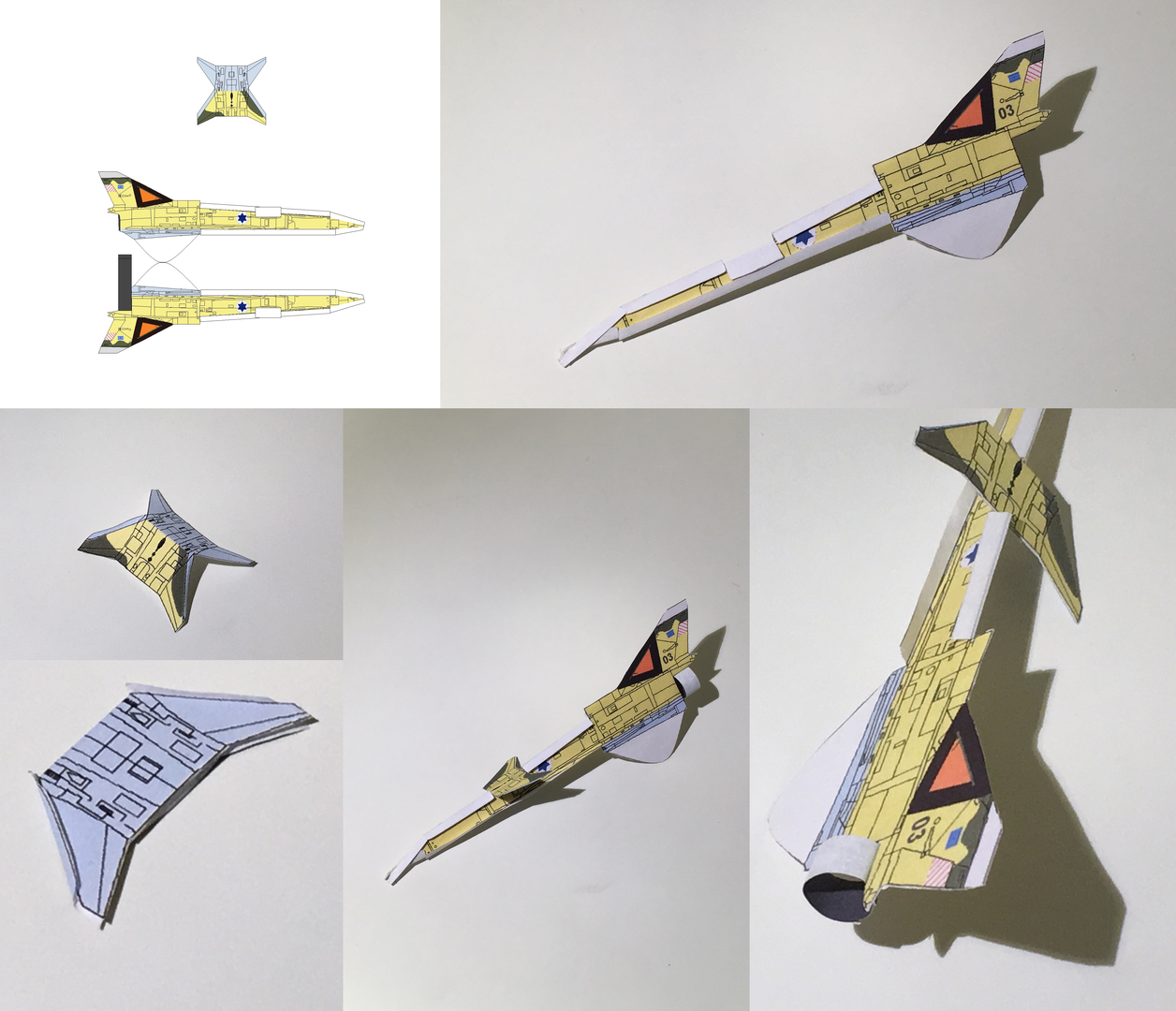 4D paper airplane - Model Template, Jet Airplane