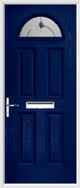 4 Panel 1 Arch Composite Door fusion art glass
