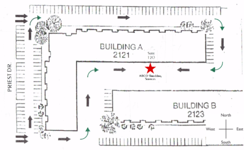 Building map to suite 120