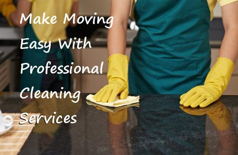 moving with profession cleaning services