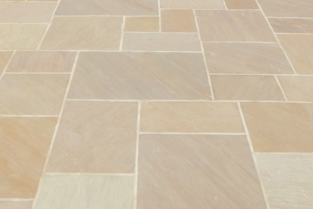 Autumn Brown Sandstone Patterned Flagging Natural Stone