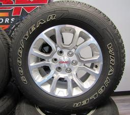 "18"" GMC HONEYCOMB NEW TAKEOFF RIMS AND TIRES"