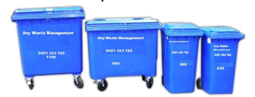 Commercial Trash Bin Sizes : Any waste management services sydney bin sizes