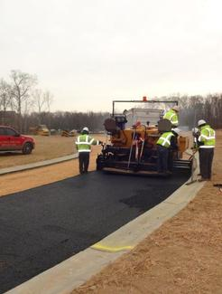 Fine grading and installing base asphalt for roadways in Hamilton Park Waldorf, Maryland