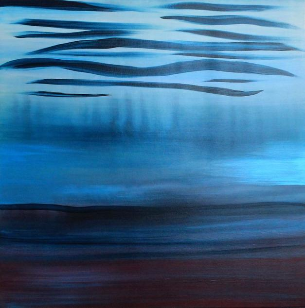 A Soft Day Abstract Seascape Painting by Orfhlaith Egan. Berlin | Galway