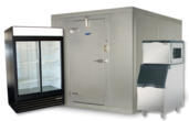 Refrigeration units and ice machines