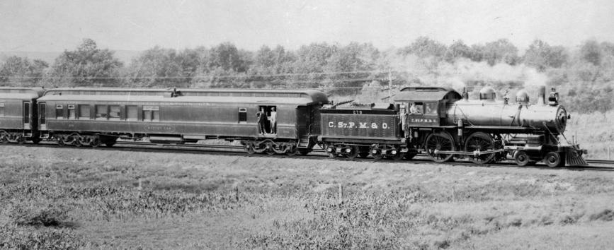 Chicago, St. Paul, Minneapolis and Omaha Railway (CStPM&O) 4-4-0 locomotive No. 278.