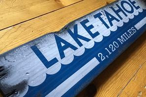 rustic wood signs - lakes rivers and beaches
