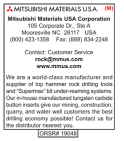Mitsubishi Materials, Rock Drilling Tools