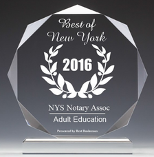 Best NY State Notary Licensing Seminars Classes 2016 Award