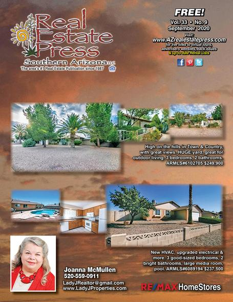 Real Estate Press, Southern Arizona, Vol. 33, No. 9, September 2020