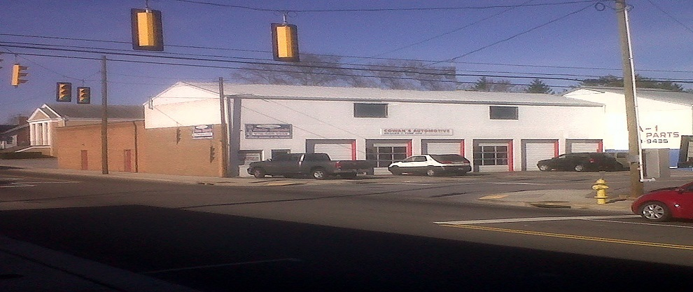 front view, cowans automotive,auto repair, bristol va