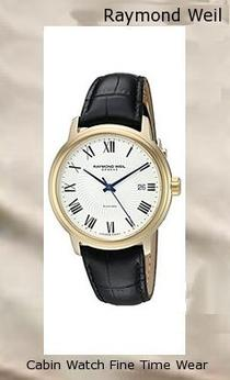 Product Specifications Watch Information Brand, Seller, or Collection Name Raymond Weil Model number 5132-PS-00985 Part Number 5132-PS-00985 Model Year 2011 Item Shape Round Dial window material type Anti reflective sapphire Display Type Analog Clasp Deployment-Clasp-With-Double-Push-Button Case material Stainless steel Case diameter 31.6 millimeters Case Thickness 7.6 millimeters Band Material Stainless steel Band length Women's Standard Band width 0.6 inches Band Color Gold Dial color Mother of pearl Bezel material Stainless steel Bezel function Stationary Item weight 8 Ounces Movement Swiss quartz Water resistant depth 165 Feet