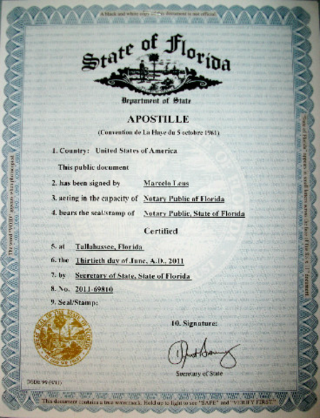 Miami Notary, LLC Apostille Authentications in Miami, Apostille ...