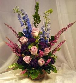 NB-BASRDHC1 Delphinium, Heather, Roses, Carnations