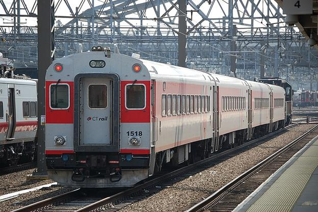 CTrail Hartford Line ex-MBTA Coaches at New Haven.